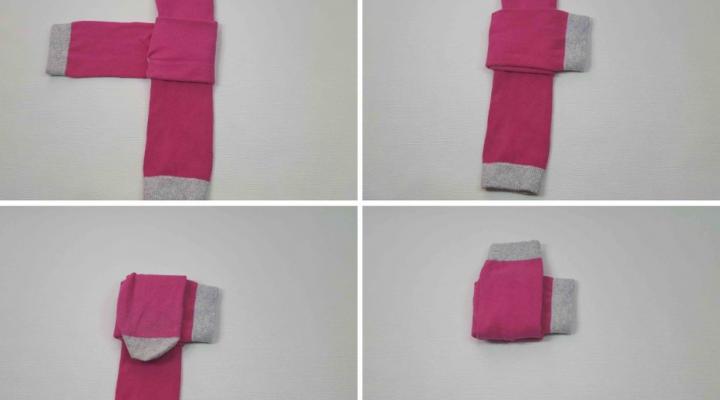 como doblar calcetines